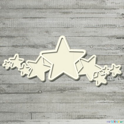 the MiNi art - Cardboard element - Little baby - frame with stars