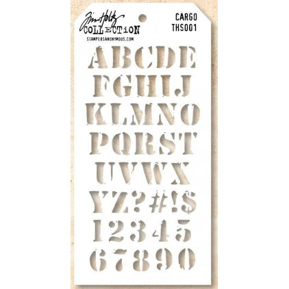 Tim Holtz Collection - Maska, szablon - Cargo THS001