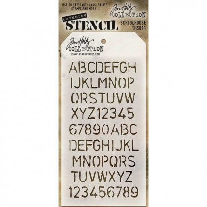 Tim Holtz Collection - Mask, stencil, template - Schoolhouse THS011