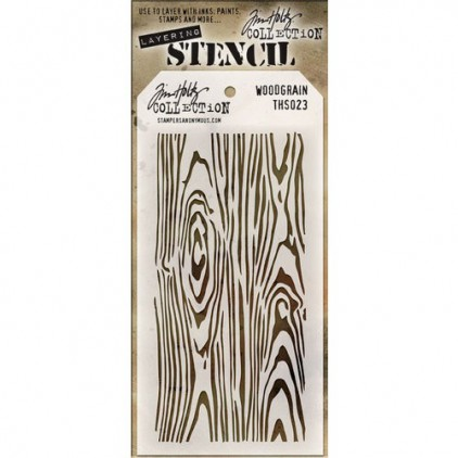 Tim Holtz Collection - Mask, stencil, template - Woodgrain THS023
