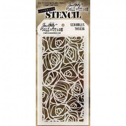 Tim Holtz Collection - Maska, szablon -Scribbles THS036