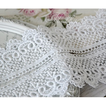 Guipure lace - widh 6cm - white - 1 meter