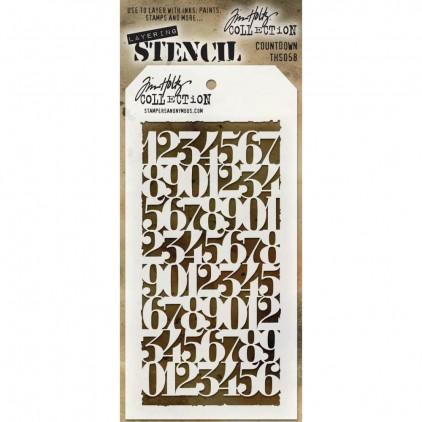 Tim Holtz Collection - Maska, szablon -Countdown THS058