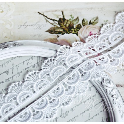 Guipure lace - widh 3cm - white - 1 meter