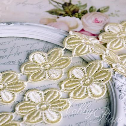 Guipure lace flowers - widh 4,5cm - vanilla - 1 meter
