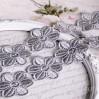 Guipure lace flowers - widh 4,5cm - grey - 1 meter