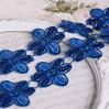 Koronka gipiurowa kwiaty - szerokość 4,5cm - ciemnoniebieska - 1 metr