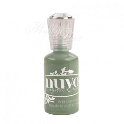 Emaliowe kropelki, emalia w płynie - Nuvo Crystal Drops Gloss - Olive branch 688N