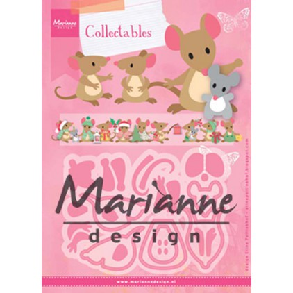 Wykrojniki rodzina myszek - Marianne Design Collectables - COL1437