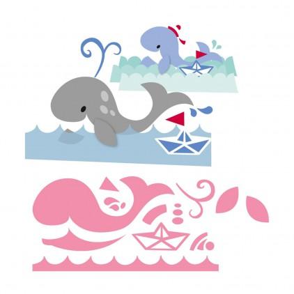 Wykrojniki Wieloryb na fali - Marianne Design Collectables - COL1430