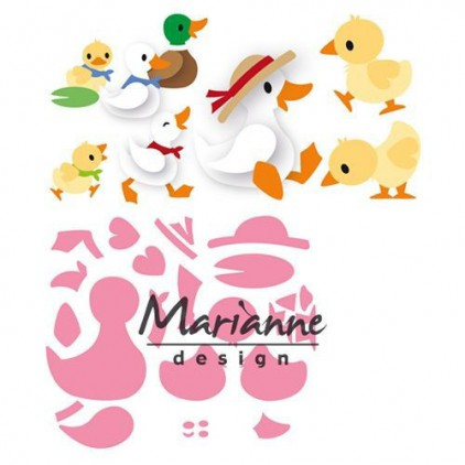 Marianne Design Collectables Eline's duck family die - COL1428