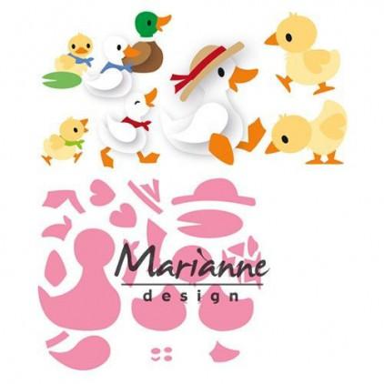 Wykrojniki Rodzina kaczuszek - Marianne Design Collectables - COL1428