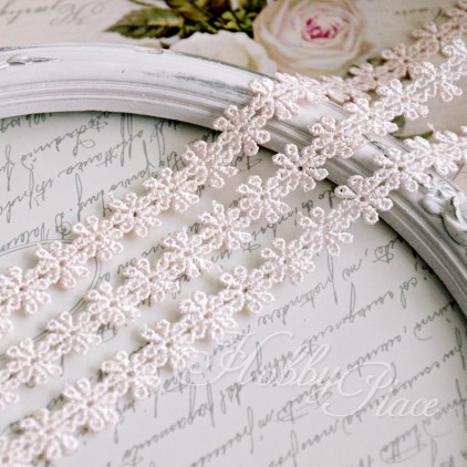 Guipure lace - pink - 1 meter