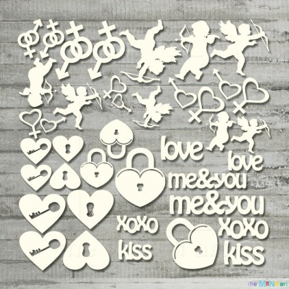 Zestaw miłość 6 – M - tekturka - the MiNi art