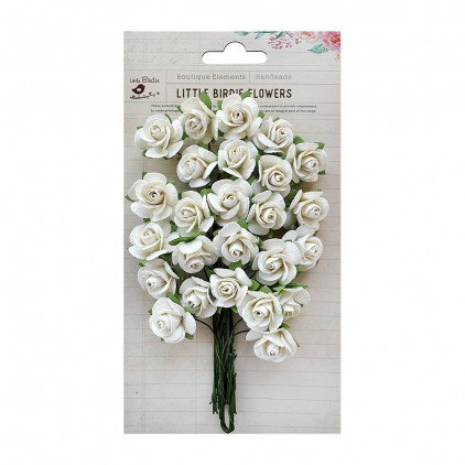 Paper flower set - Little Birdie - Catalina Charm - 25 flowers