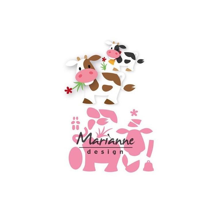 Wykrojniki krówka - Marianne Design Collectables - COL1426