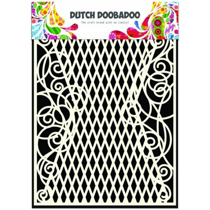 Mask, stencil, template A5 - Swirls - Dutch Doobadoo