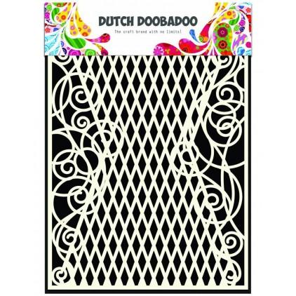 Maska, szablon A5 - Swirls - Dutch Doobadoo