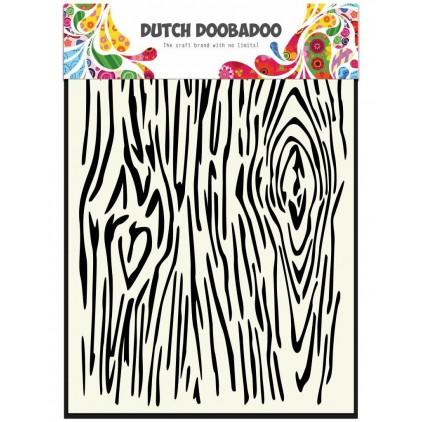 Maska, szablon A5 - Woodgrain- Dutch Doobadoo -