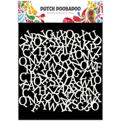 Maska, szablon 15x15 cm -Alfabet - Dutch Doobadoo