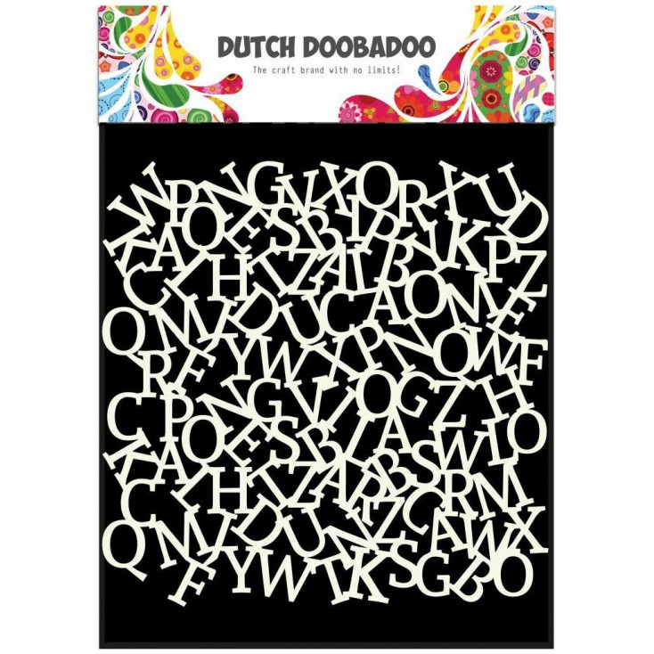 Mask, stencil, template 15x15 cm -Alfabet - Dutch Doobadoo