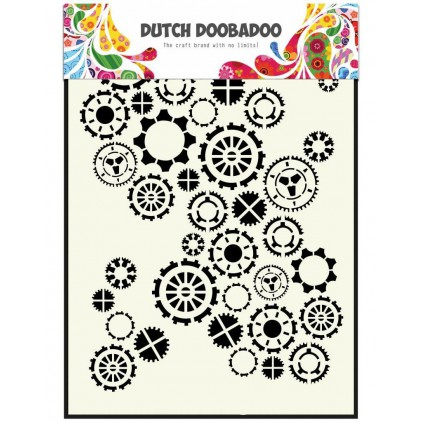 Mask, stencil, template A5 - Gears - Dutch Doobadoo