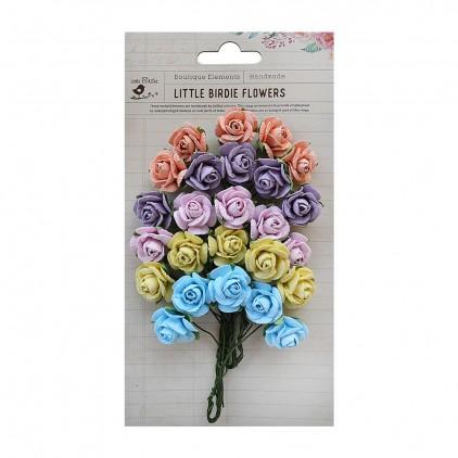 Paper flower pastel mix - Little Birdie - Catalina  Rivera - 25 flowers