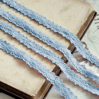 Cotton lace - widh 12mm - blue - 1 meter