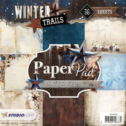 Mały bloczek papierów do scrapbookingu - Studio Light - Winter Trails PPWT97