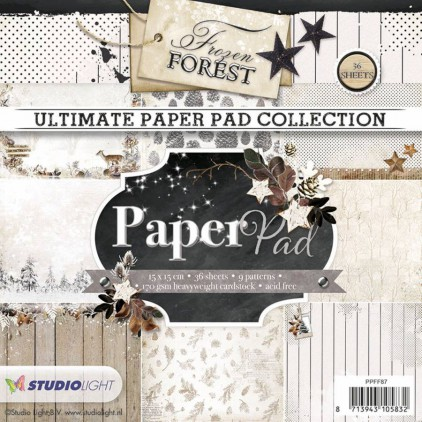 Mały bloczek papierów do scrapbookingu - Studio Light - Frozen Forest PPFF87