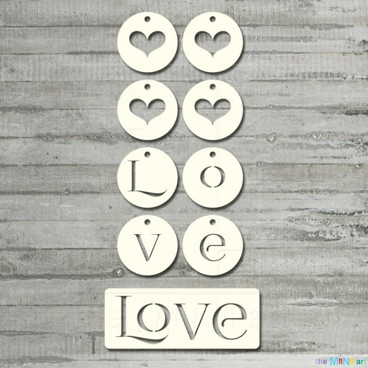 me&you - love- Cardboard element - the MiNi art