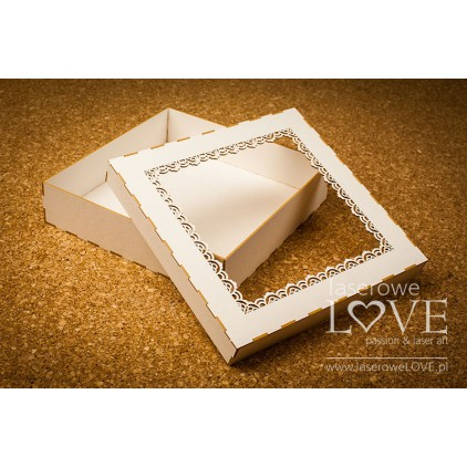 A box of beermats Lace Indiana for card/album, 16x16 cm -