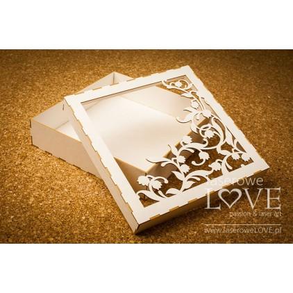 Pudełko z beeramty Dekor konwalie, Baby Lily na kartkę/album, 16x16 cm