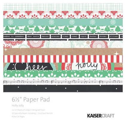 Scrapbooking paper pad- Kaisercraft - Holly Jolly