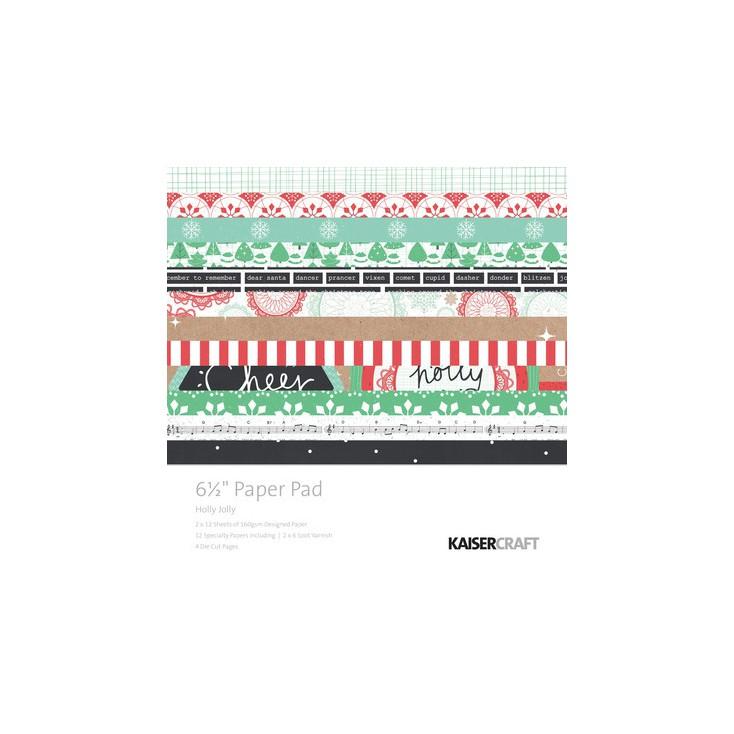 Mały bloczek papierów do scrapbookingu - Kaisercraft - Holly Jolly