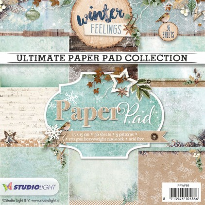 Mały bloczek papierów do scrapbookingu - Studio Light - Winter Feelings PPWF89