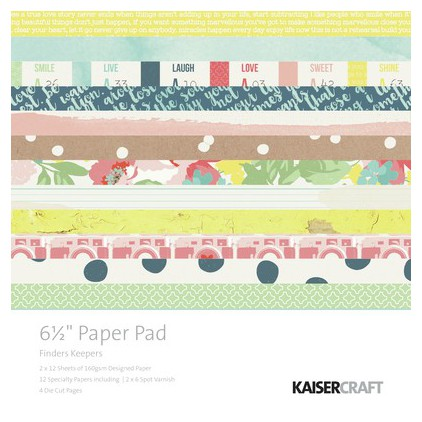 Scrapbooking paper pad- Kaisercraft -Finders Keepers