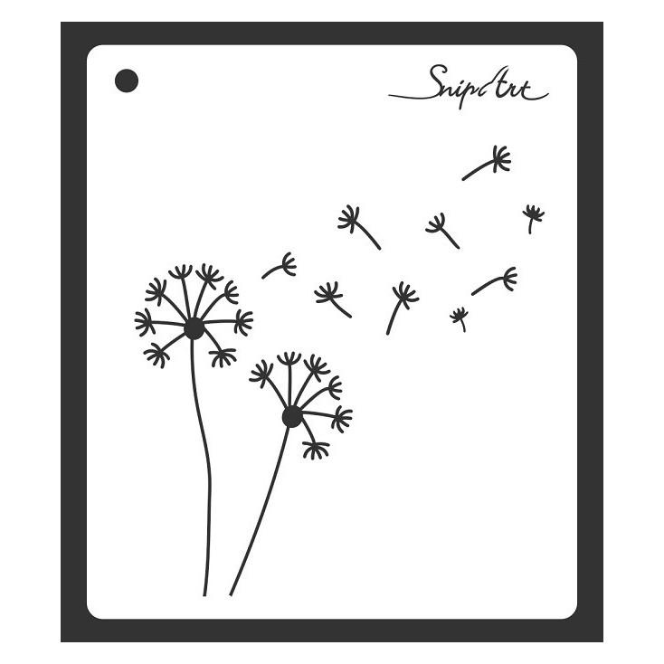 Mask, stencil, template -dandelions 15x15 - Snip Art
