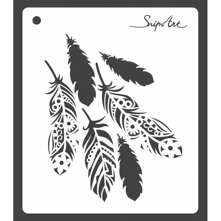Mask, stencil, template - feathers 15x15 - Snip Art