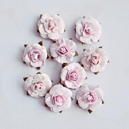 Paper flower set - Little Birdie - Victorian Rosel Blush- 9 flowers