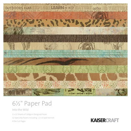 Scrapbooking paper pad- Kaisercraft - Into the Wild