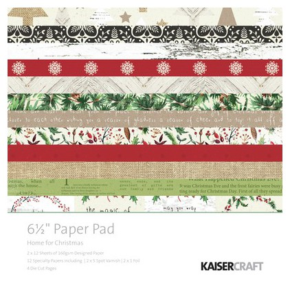 Scrapbooking paper pad- Kaisercraft - Home for Christmas