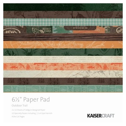 Scrapbooking paper pad- Kaisercraft - Outdoor Trail