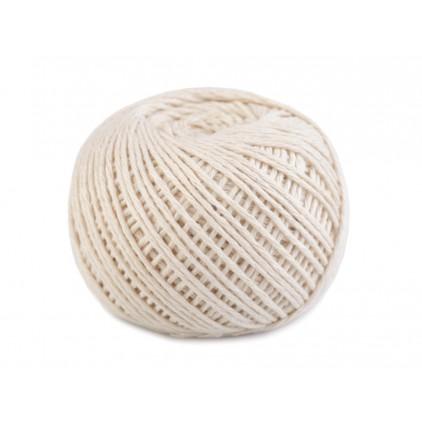 Sznurek bawełniany - Ø 1,5 mm - jasny ecru