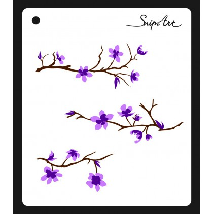 Mask, stencil, template - apple tree layered- 15x15 - Snip Art