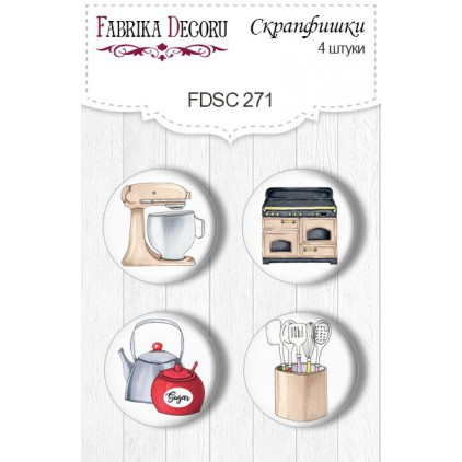 Selfadhesive buttons/badge - Fabrika Decoru - Soul Kitchen 271