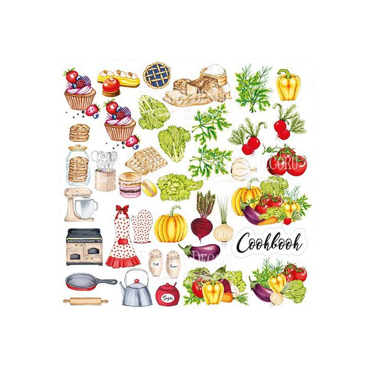Papier do tworzenia kartek i scrapbookingu - Fabrika Decoru - Soul Kitchen - Obrazki do wycinania