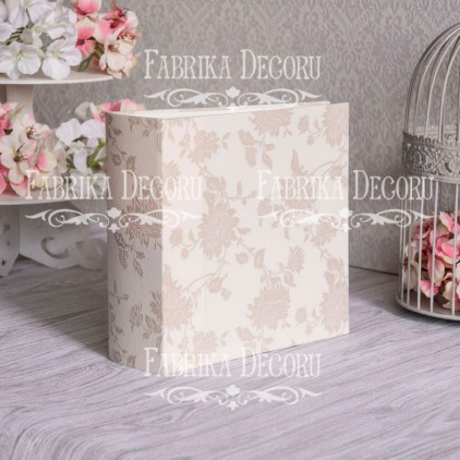Album base square- Texture - Shabby Beige - 20x20x7 cm - Fabrika Decoru