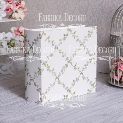 Baza albumowa kwadratowa- tekstura- Delicate flowers- 20x20x7 cm - Fabrika Decoru