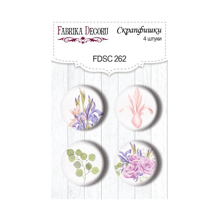 Selfadhesive buttons/badge - Fabrika Decoru - Majestic Iris 262